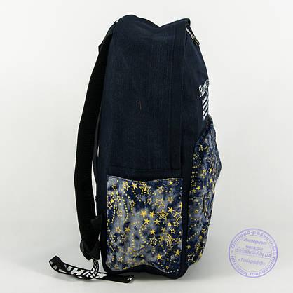 Джинсовый рюкзак школьный/городской - синий - 162, фото 3