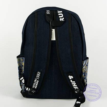 Джинсовый рюкзак школьный/городской - синий - 162, фото 2