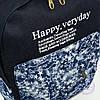 Джинсовый рюкзак школьный/городской - синий - 162, фото 6