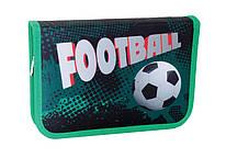 """Пенал 1 отделение """"Green footbal"""", 20,5*14*3,5 см, Smart, 531340"""