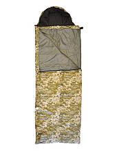 Мішок спальний, спальник Champion Average A00070 (Студент) камуфляж з капюшоном