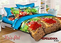 Полуторный набор постельного белья 150*220 из Ранфорса Тимон и Пумба №18602 KRISPOL™