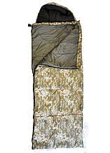 Мішок спальний, спальник Турист з капюшоном 100 % поліестер, 320 г/м, 190*80*75, (капюшон), чохол камуфляж