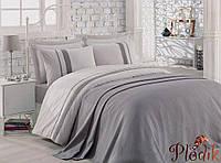 Набор постельного белья Cotton box с покрывалом 240х230 Bamboo Pike GRI