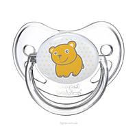 Пустышка силиконовая анатомическая Canpol Babies (0-6 мес) Transparent 1 шт., фото 1