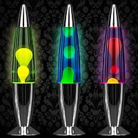 Лава лампа, парафиновая лампа, оригинальный ночник (Magma Lamp, Lava lamp) 37,5 см