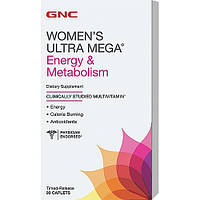 GNC WOMENS ULTRA MEGA ENERGY METABOLISM 90caplets, фото 1