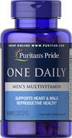 Puritan's Pride One Daily Men's Multivitamin 100caplets, фото 1