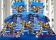 Полуторный набор постельного белья Ранфорс Трансформеры №18653 KRISPOL™