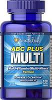 Puritan's Pride ABC Plus Multivitamin and Multi-Mineral Formula 100caplets, фото 1