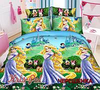 Полуторный набор постельного белья Ранфорс Рапунцель №18656 KRISPOL™