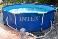 Intex 28202(56999) 305х76 см.+ Фильтрующий насос. Круглый каркасный бассейн Metal Frame Pool