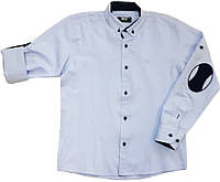Рубашка школьная на мальчика голубая ТМ BOLD Junior размер 146 152 158 164 170