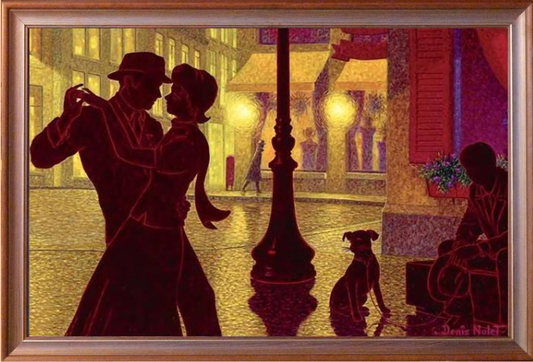 Репродукция картины современной мировой живописи «Флирт 55 х 85 см