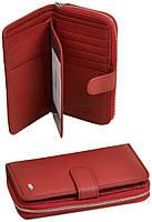 Женский кожаный кошелек Dr.Bond на молнии с визитницей, фото 1
