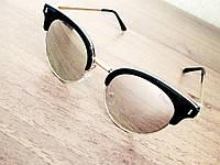 Стильные солнцезащитные очки реплика Диор зеркальные