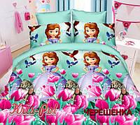 Полуторный набор постельного белья Ранфорс Принцесса София №18640 KRISPOL™