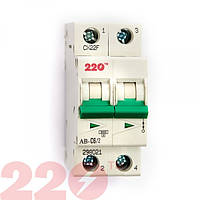 Автоматический выключатель 2Р 6А (6кА) 220 ТМ