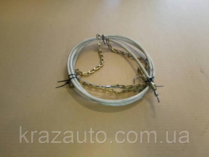 Трос шторки КрАЗ с цепочкой и оболочкой 260-1310347-10