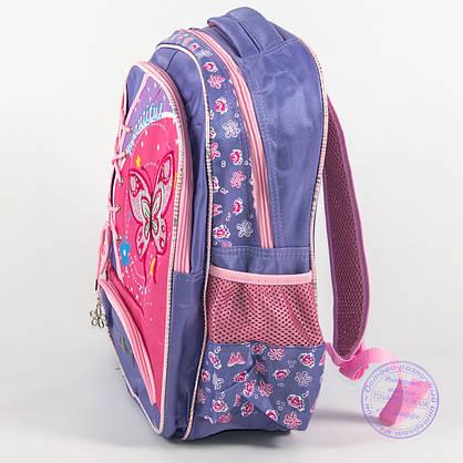 Школьный рюкзак для девочек с бабочкой - сиреневый - 148, фото 3