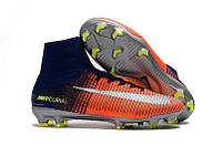 Бутсы NIke Mercurial Superfly V FG blue/orange, фото 1