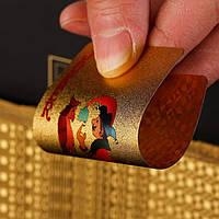 Игральные карты пластиковые (золото)