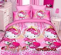Полуторный набор постельного белья Ранфорс Hello Kitty №18661 KRISPOL™