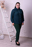 Женская блузка шифоновая на пуговицах, с 48-74 размер, фото 1