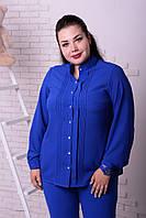Женская блузка шифоновая электрик, с 48-74 размер, фото 1