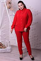 Блузка шифоновая красная, с 48-74 размер, фото 1