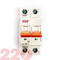 Автоматический выключатель 2Р 63А (6кА) 220 ТМ