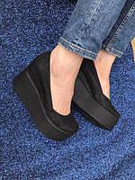 Женские туфли на платформе натуральная кожа