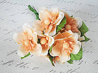 Яблоневый цвет, 6 шт/уп.,  диаметр 4 см кремово-персикового цвета, фото 1