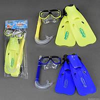 Набор для плавания маска, трубка, ласты Разные размеры Взрослый