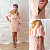 Платье 786 персик, фото 1