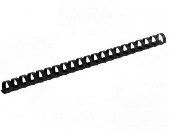 Пластикові пружини  Buromax, круглі d 6 мм, чорні, товщ. 2-20 аркушів