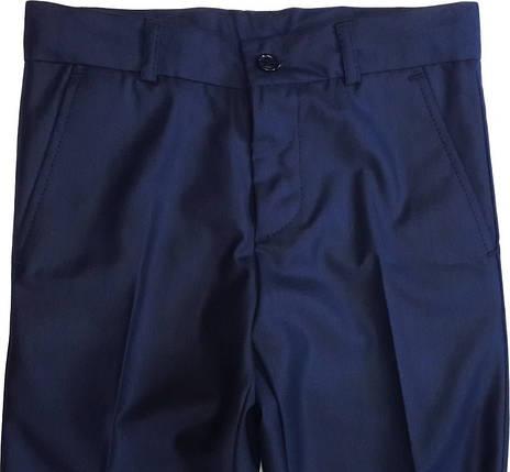 Брюки классические школьные для мальчика синие размер 140 146, фото 2