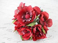 Яблоневый цвет диаметр 4 см темно-красного, бордового цвета, фото 1