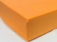 Оранжевая простынь-наматрасник 160*200, 180*200 из поплина, фото 1