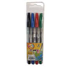 Набір кулькових ручок, Beifa, 4 кольори