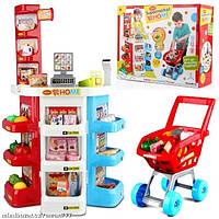 """Игровой набор """"Супермаркет"""" с кассой, тележкой и товарами арт.668-20"""