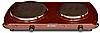 Електроплитка Термія ЭПЧ 2-2,5 2 комфорки коричнева блін