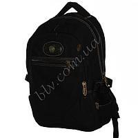 Рюкзаки черный для мальчиков школьников и студентов 11667-1