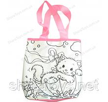 """Набор для творчества  антистресс сумка раскраска """"Кошка"""""""