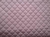 Плащевая ткань Мемори стеганая на синтепоне с подложкой на флизелине Серо-Сиреневая