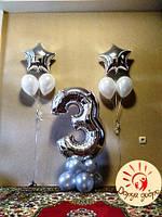 №41 Фольгированная цифра на подставке из шаров Днепр