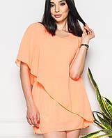 Короткое шифоновое платье (13412br) оранжевый