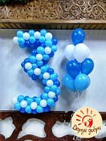 №37 Цифра из воздушных шаров Днепр, фото 1