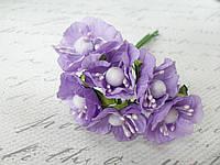 Цветы яблони для скрапбукинга диаметр 3 см, светло-фиолетового, сиреневого цвета, фото 1