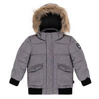 Зимняя куртка-бомбер на мальчика 4 лет (Наполнитель: синтетический пух - polyfill) ТМ Deux par Deux Серый W53-196